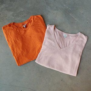 Bundle of 2 ASOS A New Day Basic Tees small